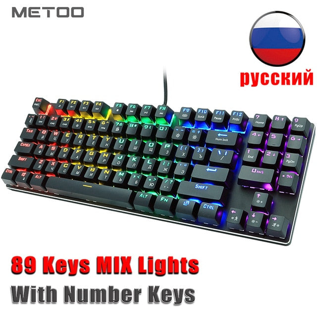 METOO Z56 Mechanical Wired Gaming Keyboard - Shop For Gamers