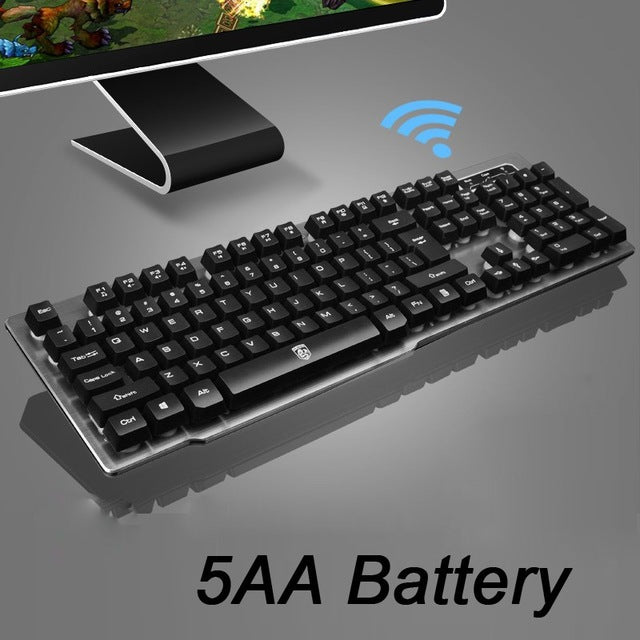 MK500 Wireless Rechargeable Backlight Keyboard - Shop For Gamers