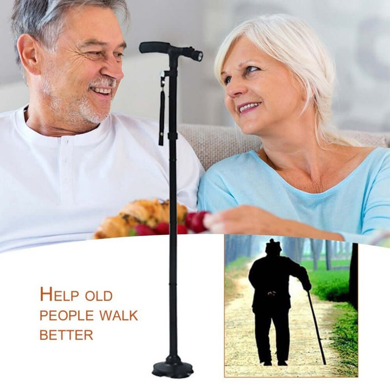 Multi-Function LED Folding Walking Stick - Shop For Gamers
