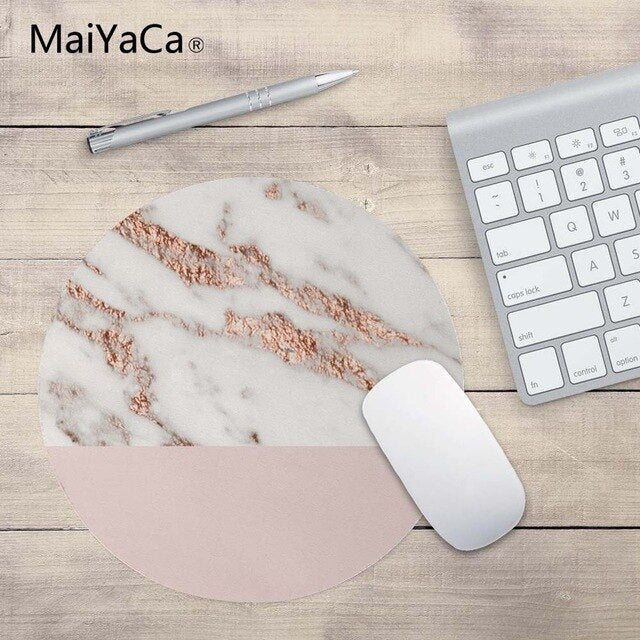 MaiYaCa Rosegold Round Mouse Pad - Shop For Gamers