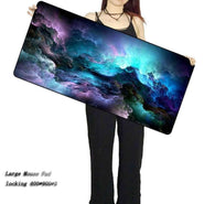 Blue Purple Cloud Space Gaming Mouse Pad - Shop For Gamers