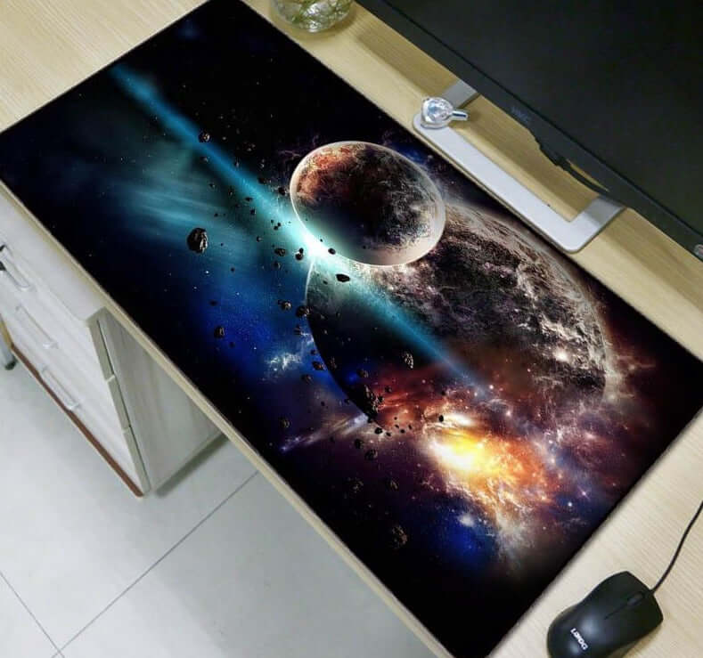 Mairuige Moon Space Blue Large Mouse Pad - Shop For Gamers