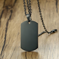 Stainless Steel Dog Tag Necklace - Shop For Gamers