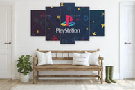 PlayStation Logo Wall Canvas Art Poster - Shop For Gamers