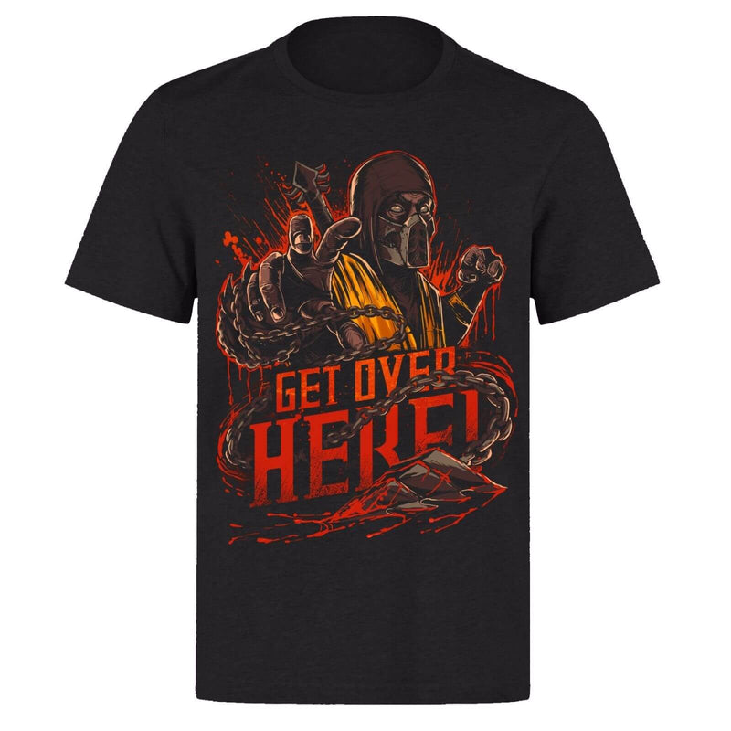 Mortal Kombat Scorpion Get Over Here T-Shirt - Shop For Gamers