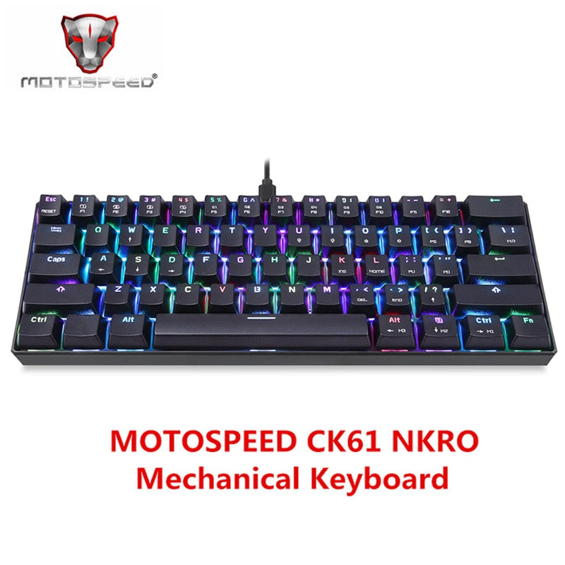 MOTOSPEED CK61 NKRO RGB Mechanical Keyboard - Shop For Gamers