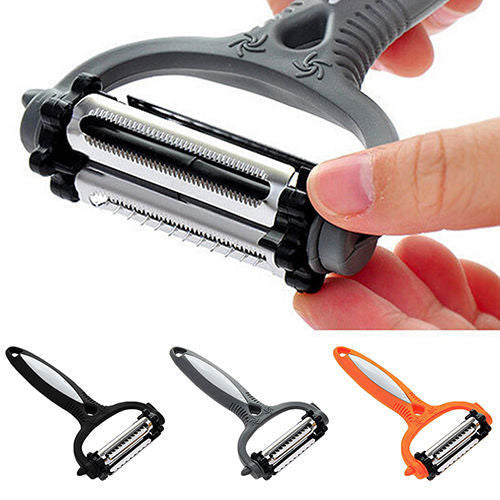 Fruit Peeler 3 in 1 Multifunctional Peeler 360 Degree Rotary Kitchen Tool - Shop For Gamers