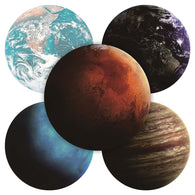 Exquisite Planets Pattern Round Mousepad - Shop For Gamers