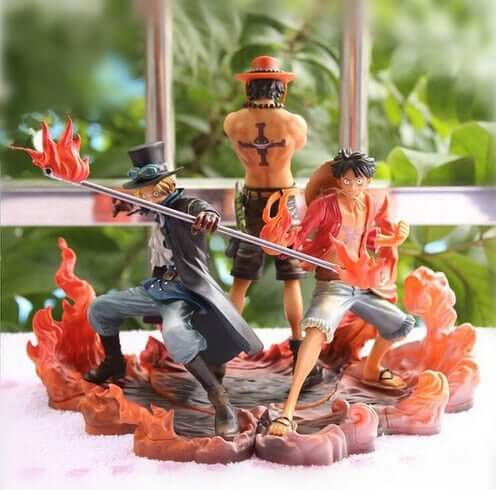 One Piece Monkey D Luffy Ace Sabo Collectors Action Figure - Shop For Gamers