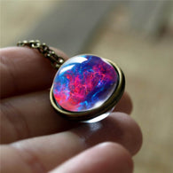 Nebula Galaxy Double Sided Pendant Necklace - Shop For Gamers