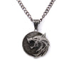 Witcher Wizard Wolf Head Pendant Necklace - Shop For Gamers