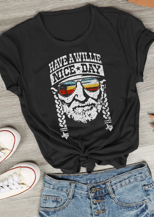Have a Willie Nice Day Character T-Shirt - Shop For Gamers