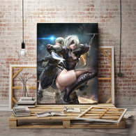 Nier Automata Game 2B And 9S Wall Canvas Art Poster - Shop For Gamers