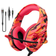 ONIKUMA K1 Red Camo PS4 Gaming Headset - Shop For Gamers