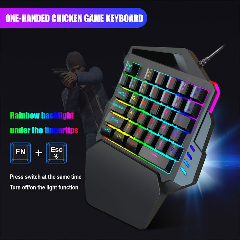 One-Hand Keyboard Game Keypad 35 KEYS - Shop For Gamers