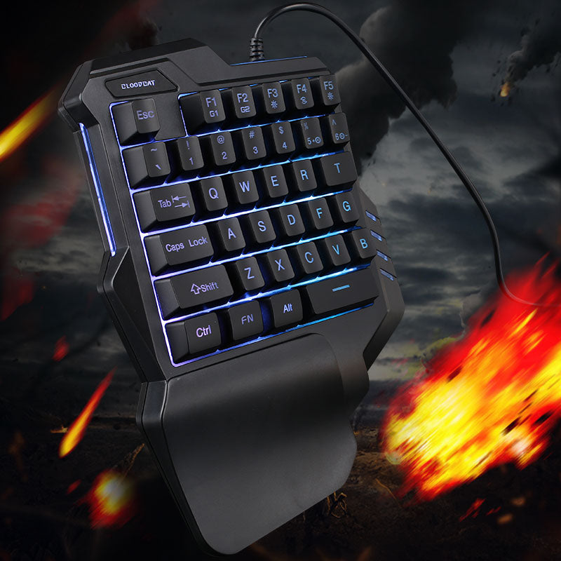HXSJ J100 One-hand Mechanical Game Keyboard 35 Keys - Shop For Gamers
