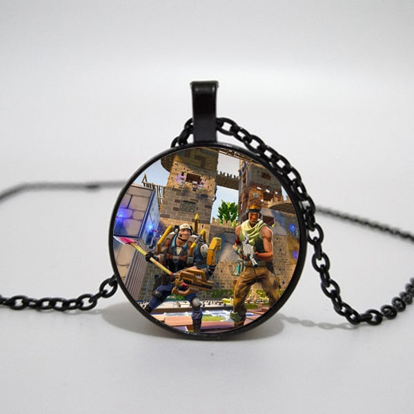 Fortnite Glass Pendant Necklace - Shop For Gamers