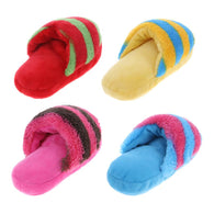 Pet Dog Squeak Plush Toys Slipper Shaped