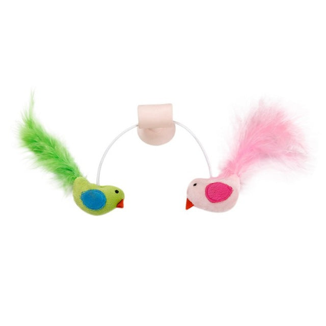 Cat Feather Toy Glass Sucker Holder - Shop For Gamers