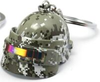 PUBG Keychain New 3D laser Helmet Key Chain - Shop For Gamers