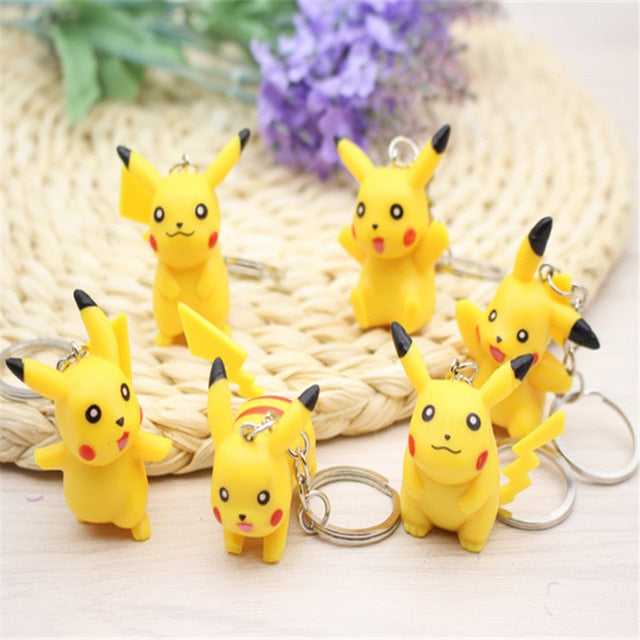 Pokemon Classic Cute Pikachu Key Chains - Shop For Gamers