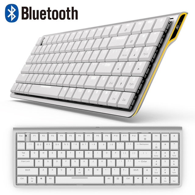RK929 Rechargeable 96 Keys White Mechanical Keyboard - Shop For Gamers