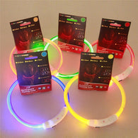 LED Flashing Light Rechargeable Puppy Collar - Shop For Gamers
