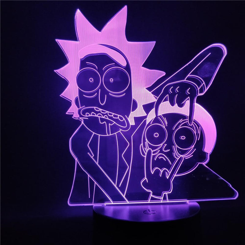 Rick and Morty Cartoon LED Table Lamp - Shop For Gamers