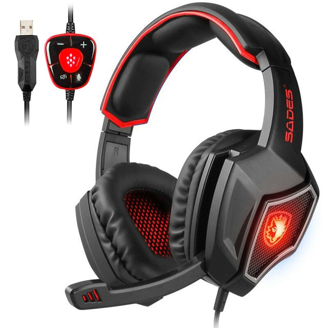 SADES Spirit Wolf Gaming Headset - Shop For Gamers