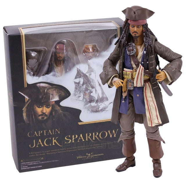 Pirates of the Caribbean Captain Jack Sparrow PVC Action Figure - Shop For Gamers