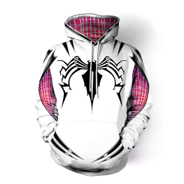 Spider-man Spider Gwen Cosplay Costume Hoodie - Shop For Gamers