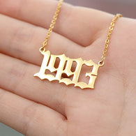 Year Number Pendants Necklaces - Shop For Gamers