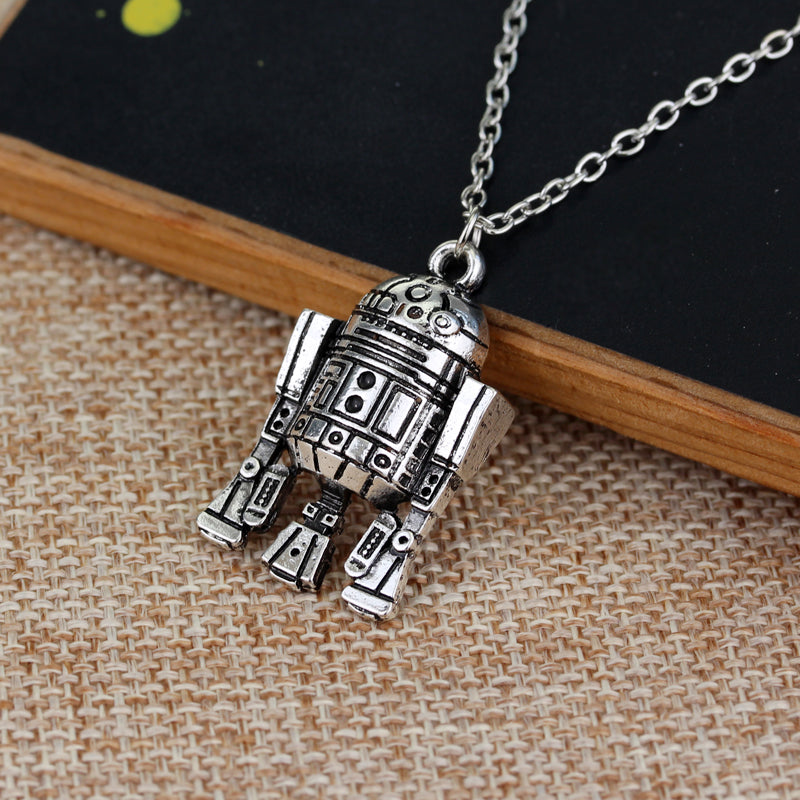 Star Wars Robot R2D2 Pendant Necklace - Shop For Gamers