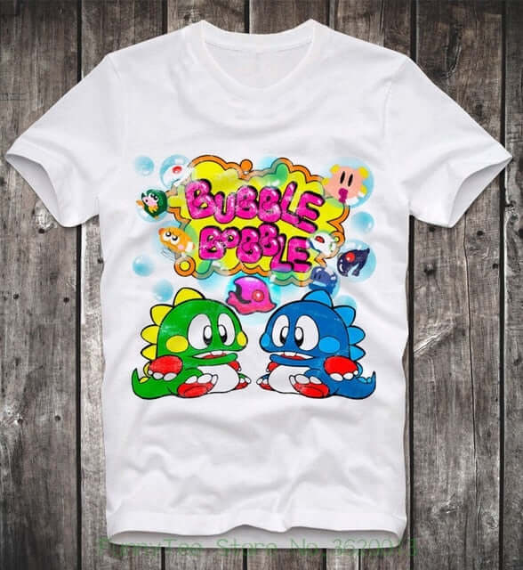 Bubble Bobble Game T-Shirt - Shop For Gamers
