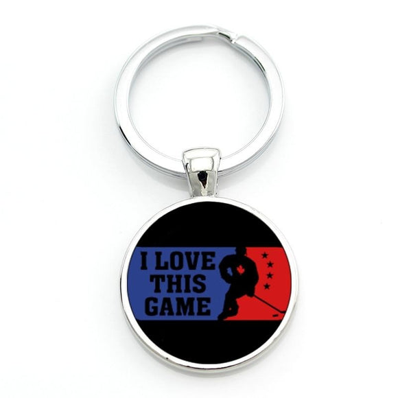 Vintage Love Hockey Game Keychain