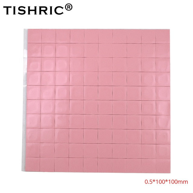 TISHRIC 100*100*2 mm Conductive Silicone Thermal Pads - Shop For Gamers