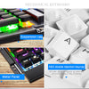 M326 104 Keys Mechanical Keyboard Blue Black Switch - Shop For Gamers