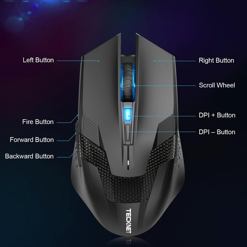 TeckNet WM289 Wireless Gaming Mouse - Shop For Gamers