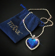 Heart of Ocean Blue Heart Pendant Necklace - Shop For Gamers