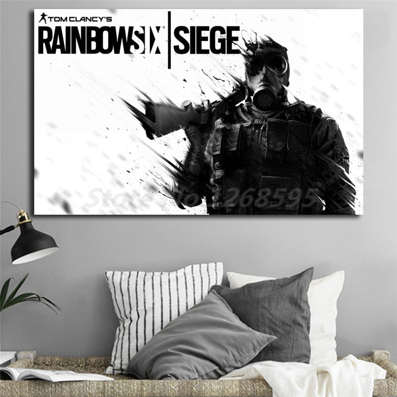 Tom Clancy's Rainbow Six Siege Wall Canvas Art Poster - Shop For Gamers