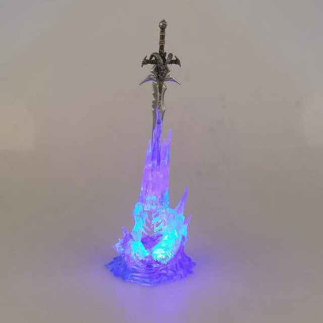 Arthas Menethil's Frostmourne Sword With Lighting Figma PVC Action Figure - Shop For Gamers