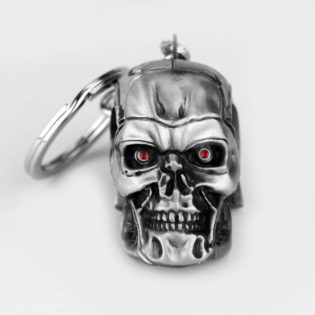 Terminator Skull Head Key Chain - Shop For Gamers