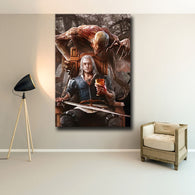 The Witcher Canvas Painting Poster - Shop For Gamers