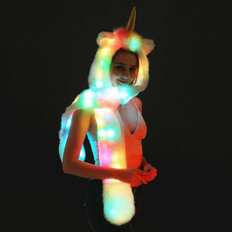 LED Faux Fur Hat Animal Unicorn - Shop For Gamers