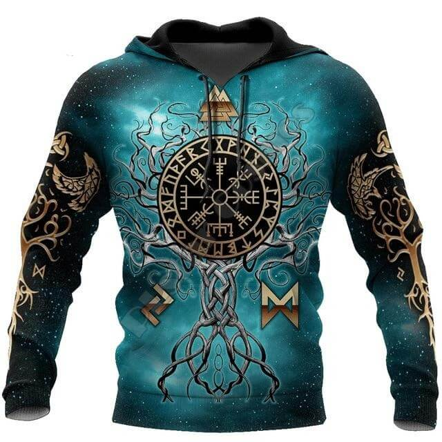 Norse Tree Of Life Viking Hoodie - Shop For Gamers
