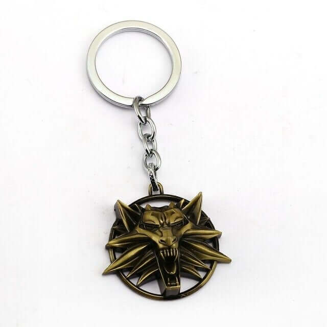 Witcher 3 Wild Hunt Metal Wolf Head Keychain - Shop For Gamers