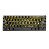 Royal Kludge RK61 Golden/ Ice Blue Gaming Keyboard - Shop For Gamers