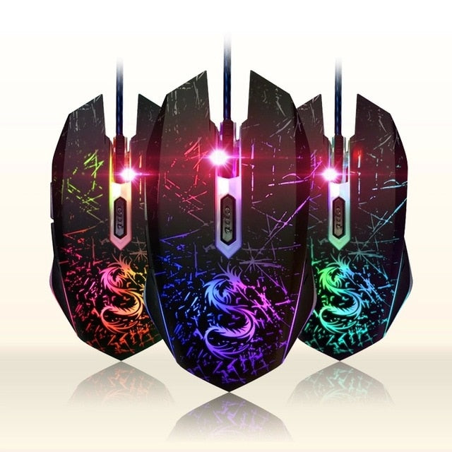 USB Computer Optical 3200 DPI Wired Gaming Mouse - Shop For Gamers