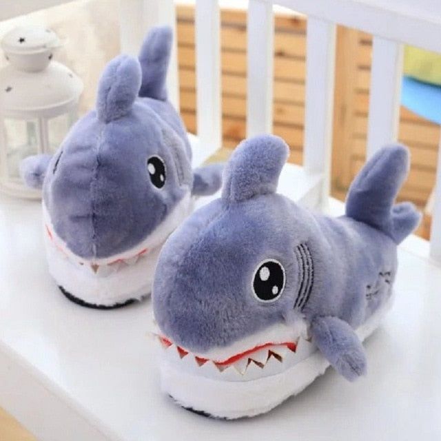 Fuzzy Shark Slippers - Shop For Gamers