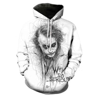 Jokers Pencil Drawing Hoodies - Shop For Gamers